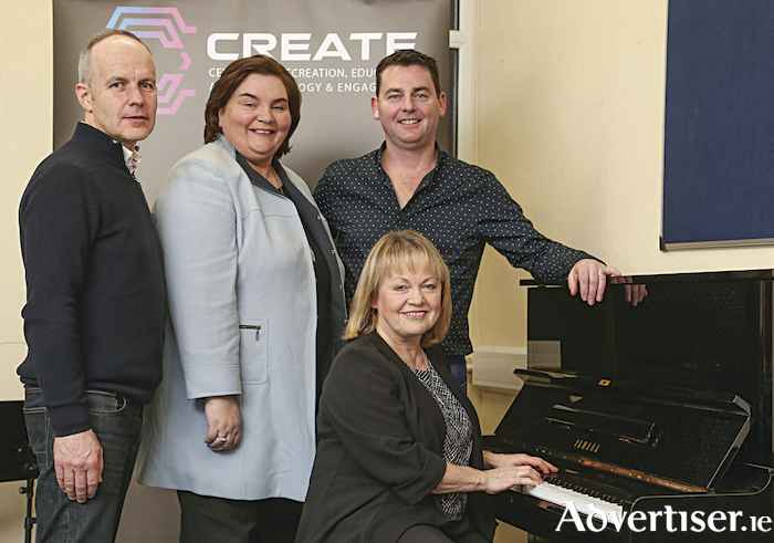 Photographed (right to left) are directors of CREATE Movement Ltd Mairead Berrill and Eric Cunningham together with Councillor Mary Hoade (chairperson) & John Mc Grath (secretary) of the extended CREATE organisation.