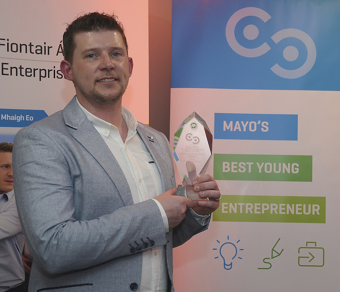 John McNicholas, who won the Best Start Up category of the competition in 2017, securing €15K of investment for his business.