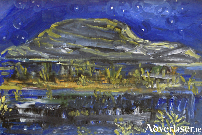 Starry Starry Night In The Burren, oil on board, by Joseph Quilty.
