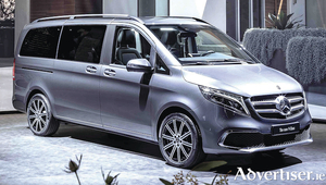 A  new facelift: The V-Class MPV, one of the models that will be centre stage on the Mercedes-Benz stand at the Geneva Motor Show.