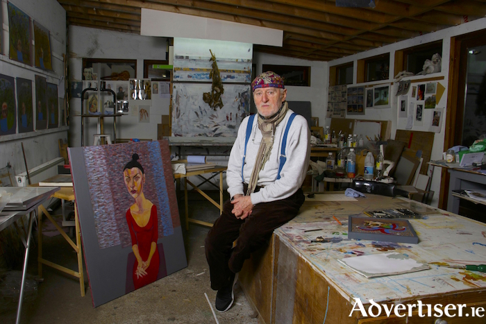 The artist Brian Bourke. Photo:-Mike Shaughnessy