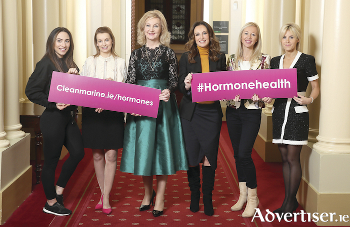 Pictured at the Cleanmarine Hormone Health Event are contributors to 'The Essential Guide to Female Hormones' (l-r): Orla Hopkins, OHsoFit.ie, fitness trainer and coach, Sarah Brereton, Cleanmarine nutritional therapist, Dr Mary Ryan, consultant endocrinologist, Lorraine Keane, broadcaster and Cleanmarine MenoMin brand ambassador, Fiona Brennan, 