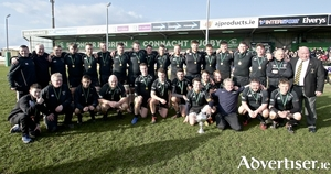 Connemara Rugby celebrated a return to the top when winning the  Connacht Junior Cup winners on Sunday over Creggs at the Sportsground. 