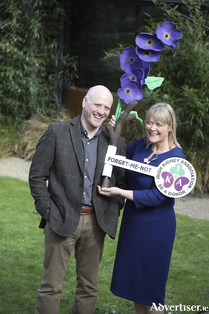 At the launch of national launch of Organ Donor Awareness Week 2019 was living kidney donor Tom Gleeson from Kilcoole, Co Wicklow, and his kidney recipient sister Mary Verbruggan.