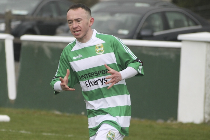 Super Hoop: Castlebar Celtic's Ger O'Boyle will be looking to help his side to a Connacht Cup win over Ballina Town this weekend. Photo: Castlebar Celtic