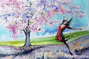 The Dance Of The Cherry Trees (above) and Growing Together 9below) by Jim McKee. both paintings will feature in his new exhibition.