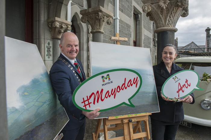 Cathaoirleach of Mayo County Council Cllr Blackie Gavin at the launch of Mayo Day in Turlough House. Photo: Michael McLaughlin.