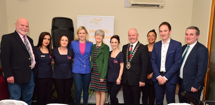 At the launch of Geraldine's Skincare Clinic's Fundrasing drive for 2019 were: Frank McAlonan,  Irena Jukic, Breege Greenan, Lisa Chambers TD, Loretta McDonagh (Director of Services, Mayo Rape Crisis Centre), Geraldine Greenan (Proprieter Geraldine's Skincare Clinic Westport), Cllr Blackie Gavin (Cathaoirleach of Mayo County Council), Solene Valette, Alan Dillon and Cllr Brendan Mulroy