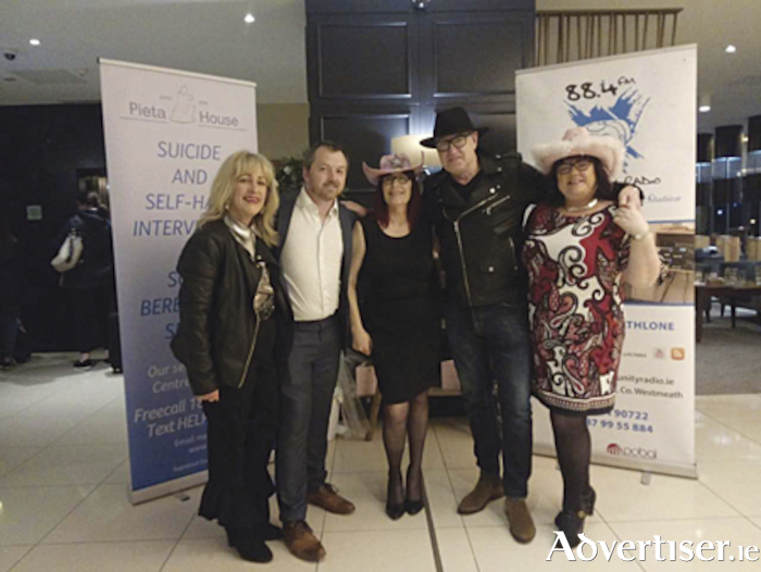 Anna Mitchell Kehoe, John Madden, Athlone Community Radio Chairman of the Board, Geraldine O'Sullivan, Peter Casey and Caroline Coyle take time out from the dancefloor during the Irish country music night in the Radisson Blu Hotel.