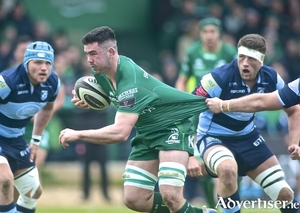 Connacht flanker Paul Boyle in action from the Guinness PRO14 game against Cardiff Blues at the Sportsground, Saturday. Photo:-Mike Shaughnessy