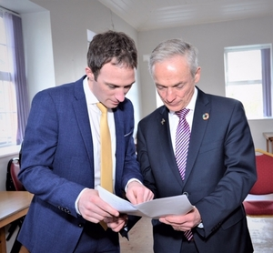 Alan Dillon with Minister Richard Bruton.