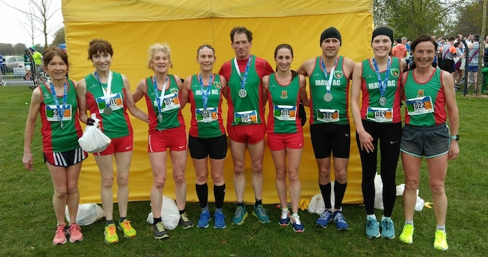 Winning smiles: Members of the Mayo AC team celebrate their success last weekend.