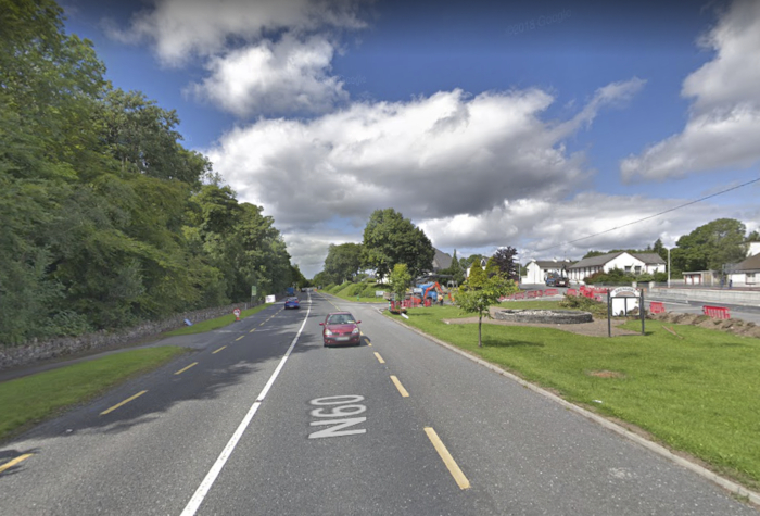 The N60 in Breaffy village. Photo: Google Maps