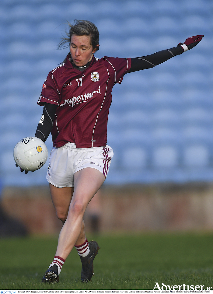 Galway captain Tracey Leonard is one of several forwards who has been on song for Galway during the Lidl Ladies NFL division one campaign.