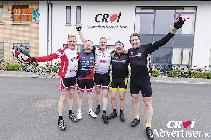 Some of last year's Croí Cycle participants celebrating at Croí House after the event.