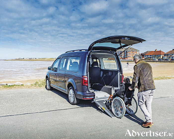VW's wheelchair access on the Caddy.