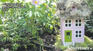 A tiny house just perfect for a garden fairy
