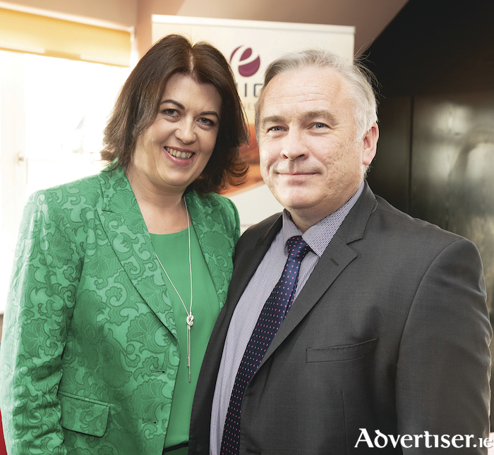 Maura Farragher, Enigma Wellness Clinic with her husband John Farragher, Athenry, pictured recently at the official opening of her new business, Enigma Wellness Clinic, located upstairs at The Huntsman, College Road, Galway. Photo: Andrew Downes, XPOSURE.IE.