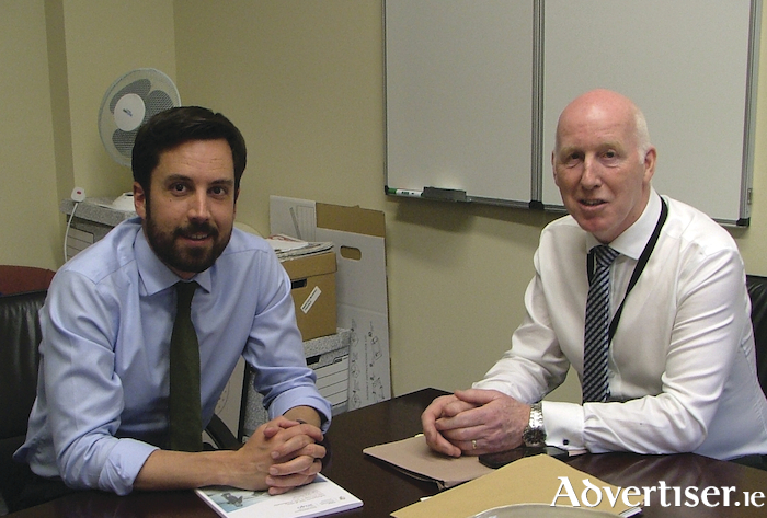 Housing Minister Eoghan Murphy with Cllr John Walsh.