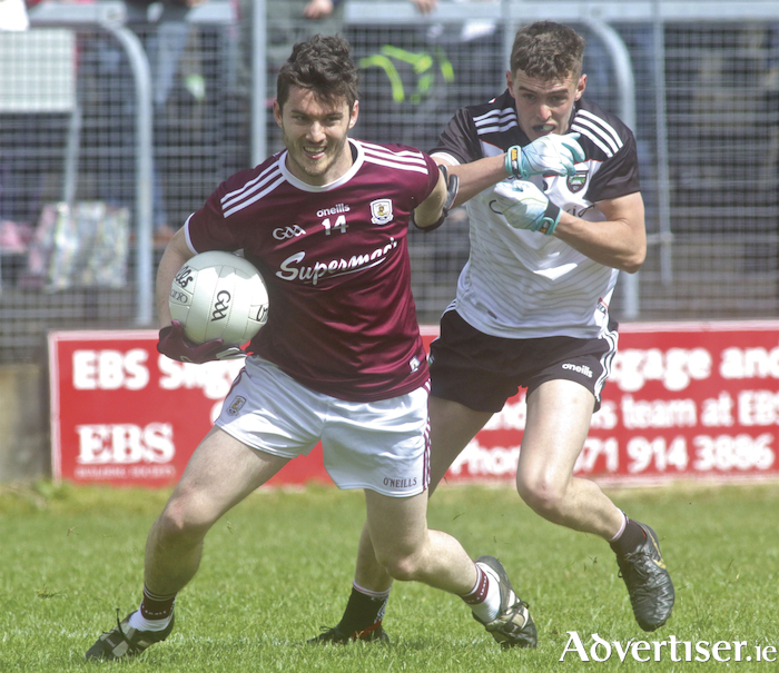 Galway's Ian Burke in action from the Connacht GAA Football Senior championship semi-final at Markievicz Park on Sunday. Photo:-Mike Shaughnessy