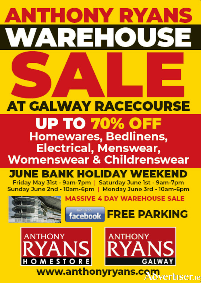 Advertiser ie - Anthony Ryans Massive Warehouse Sale at