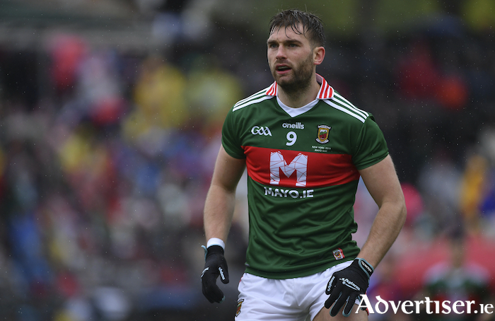 King of New York: Aidan O'Shea in action for Mayo in New York. Photo: Sportsfile