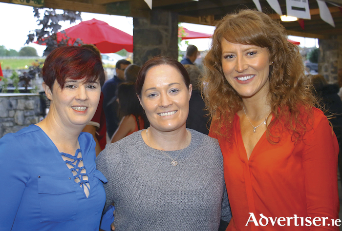 Patrica McNamara, Pauline McLoughlin and Clare McNamara  Castlegar enjoying the barbecue and party to celebrate McHugh's Traditional Bar & Restaurant's first birthday on Saturday. Photo:-Mike Shaughnessy