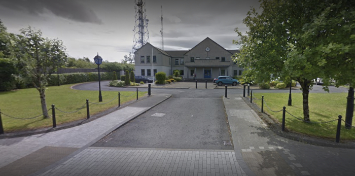 Castlebar Garda Station where a man is being held in relation to the incident. Photo: Google Maps