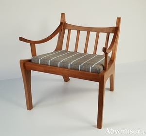 Chair in cherry by Kay Woodcock, winner of the James and Mary Ellis Excellence in Making Award for 2019.