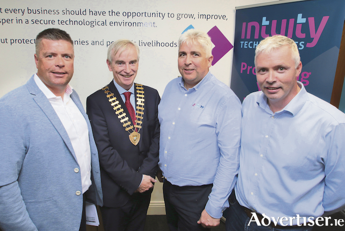 Attending the Galway Chamber Business After Hours networking event hosted by Intuity Technologies, Ballybrit, on Thursday were David Hickey, president of Galway Chamber, with Dragos Aron Intuity Technologies and Gerard Cox, CEO of Inutity Technologies. Intuity Technologies is a Managed IT provider delivering Managed IT, IT Security and Secure Managed Print Solutions to clients across Ireland. Intuity Technologies is headquartered in Galway with offices nationwide..