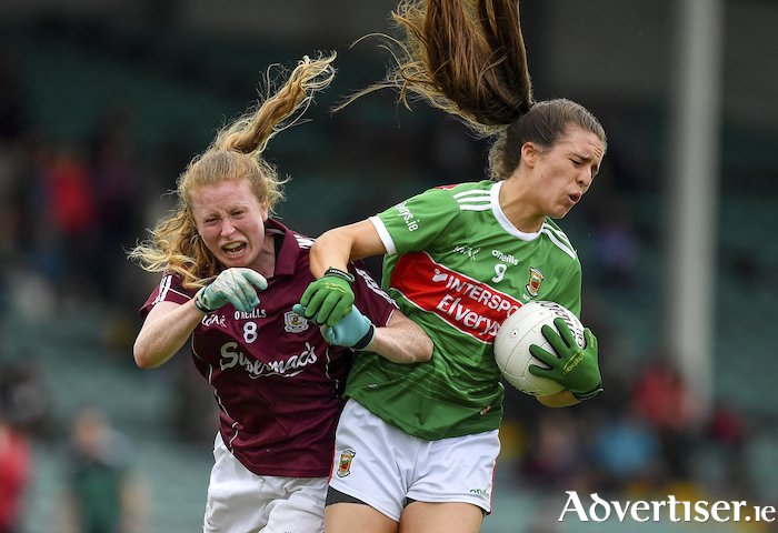 Dayna drives: Dayna Finn on the run for Mayo. Photo: Sportsfile