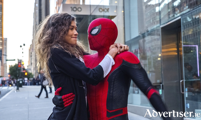 Zendaya and Tom Holland in the latest Spider-Man movie.
