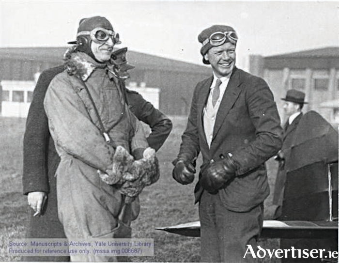 Eamon de Valera, an East Clare TD, must have been delighted with the development of Shannon at his back door. On November 22 1936 Charles Lindbergh took a very pleased looking Dev for a flight at Baldonnell Aerodrome 