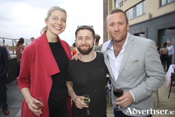 Actors Kate Kennedy, Aaron Monaghan and Rory Nolan who star in Druid Theatre's production of Epiphany anew play by Brian Watkins at the official opening of the Galway International Arts Festival hosted by the Galmont Hotel, on Monday. 