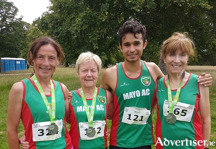 Mayo AC's successful team at the National 10 mile championships:  Colette Tuohy,  Mags Glavey, Elisha De Mello and Pauline Moran