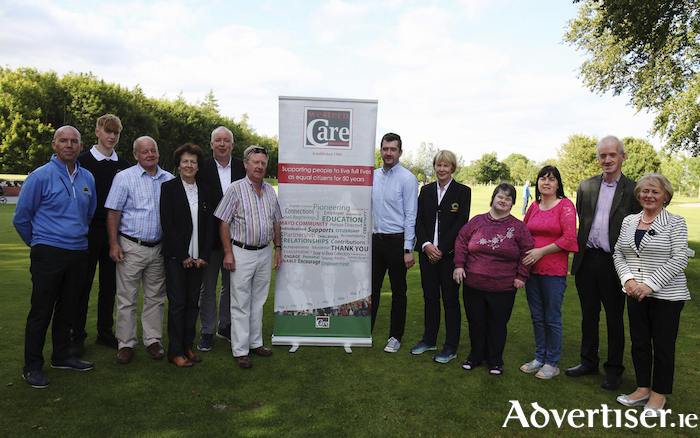 At the launch of The Cáirde Crann Mór Singles Stableford Golf Competition to be held at Ballinrobe Golf Club on July 25 were :Oliver Walsh (Golf Club Junior Convenor), Club Junior Captain Sean Hession, John Joe Walsh (Cáirdre Crann Mór Vice Chairman), Lady Captain Eileen Conlisk, Club Captain Tony O'Toole, Cáirde Crann Mór Chairman Anthony McCormack, Michael Flanagan (Western Care Fundraising Manager), Club President Mary Daly, Ashling Walsh and Winnie Conroy(Crann Mór), John Craddock(P.R.O.) and Agnes Grimes(Treasurer). Photo:Trish Forde.