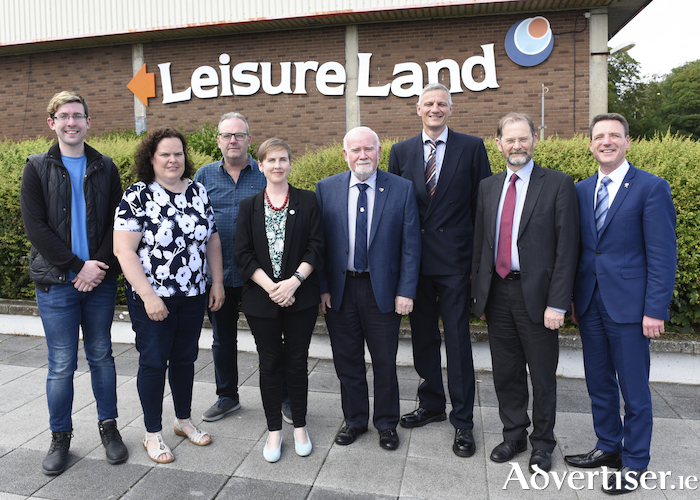 The Board of Leisureland, Cllr Owen Hanley, Angela Breslin (Galway City Council), Tom O'Connor, Cllr Pauline O Reilly, Cllr Donal Lyons (chair), Ian Brennan (operations manager), Thomas Connell (director of services, City Hall), and Dan Murphy. Photo:- Boyd Challenger