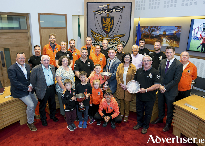 The Mayoral rcivic reception hosted by Mayor Mike Cubbard to honour Corrib Rangers FC, Connacht Cup winners 2019