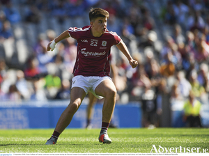 Tomo Culhane - a target man of strength and power will be key for Galway's hopes against Kildare on Saturday.