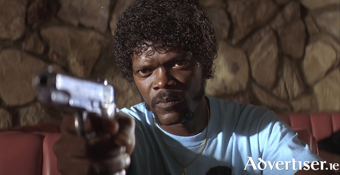 Samuel L Jackson in Pulp Fiction.