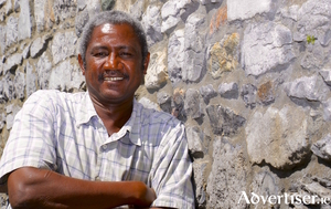 Sudanese journalist and artist Nasir El Safi. Photos by Mike Shaughnessy