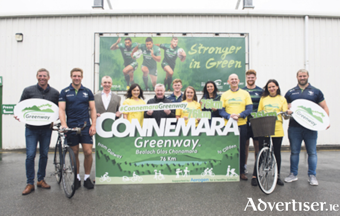 Connacht Rugby and Aerogen making the announcement. Photo: Boyd Challenger