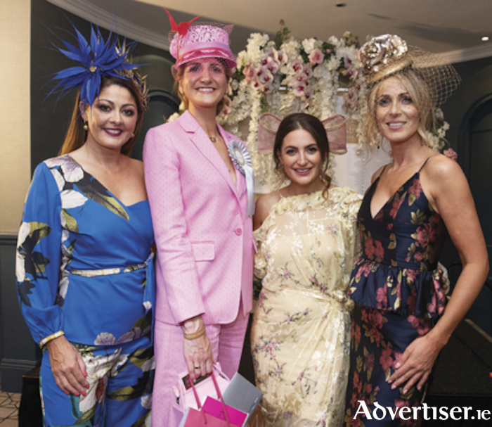 Mandy Maher, Catwalk Models, with Paula Gannon, Athlone who won the Most Stylish Lady at Hotel Meyrick's Most Stylish evening, with  top stylist Courtney Smith  as guest judge, and model and judge Mary Lee.