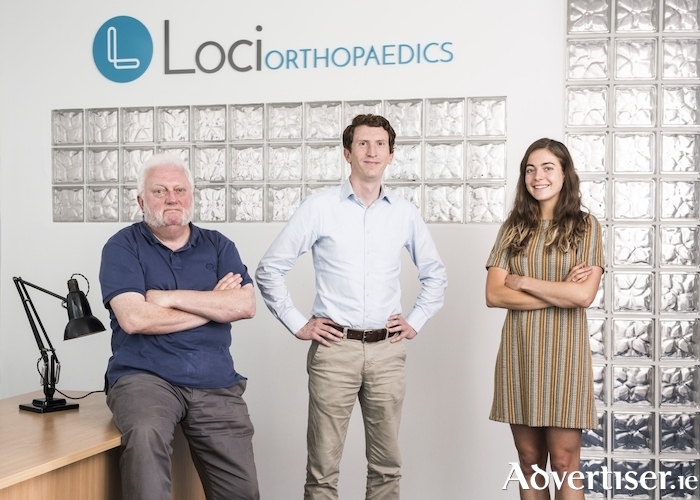 Some of the team at the Loci Orthopaedics Galway office. Left to right: Gerry Clarke, Brendan Boland, Fiona Mangan.