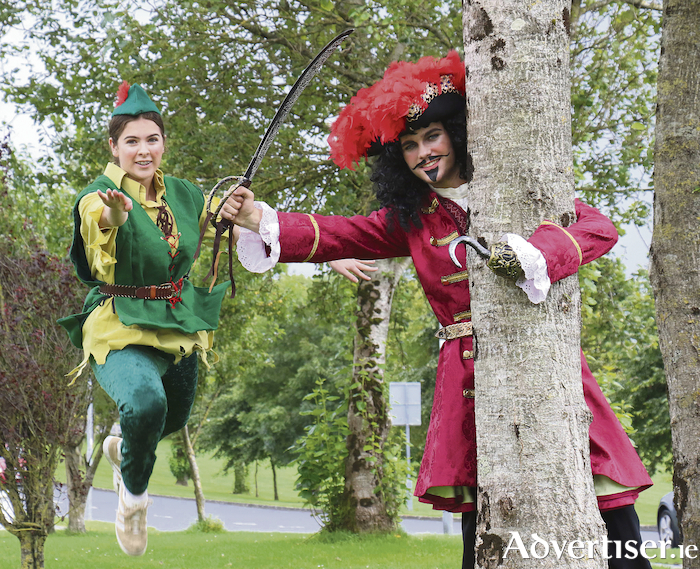 Cora Totman as Peter Pan and Keith Hanley as Captain Hook star in Twin Productions Peter Pan The Musical which will run in the Town Hall Theatre for August 21 - 25 for seven shows. 