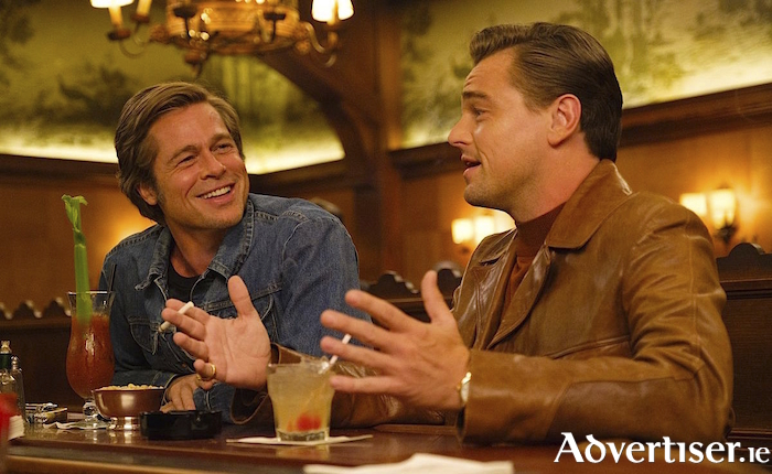 Leonardo DiCaprio and Brad Pitt in Tarantino's Once Upon  A Time In Hollywood.