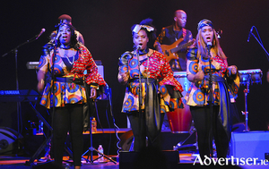 Members of the London African Gospel Choir in concert.