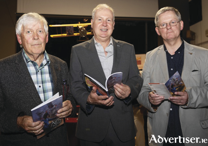 At the launch were Brendan Flynn, with special guest TG4's Alan Esslemont, and Des Lally , Clifden Arts Festival.