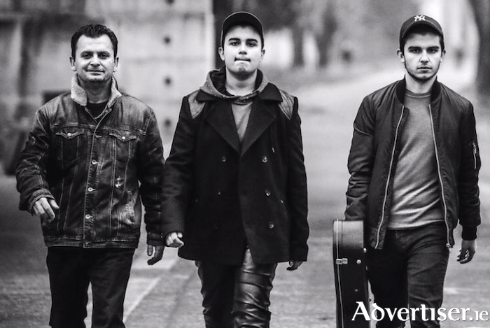 Andreas Varady (centre), with father Bandi Varady (left) and younger brother Adrian (right), are making their way to the Galway Jazz Festival in October.