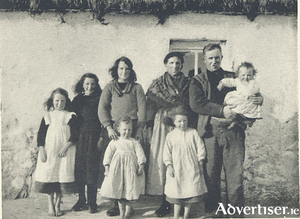 The family with whom Mason stayed on Inis Óirr. Oddly he does not give their name, but we know that each of the six girls received a gift of a necklace which Mason bought from the pedlar.